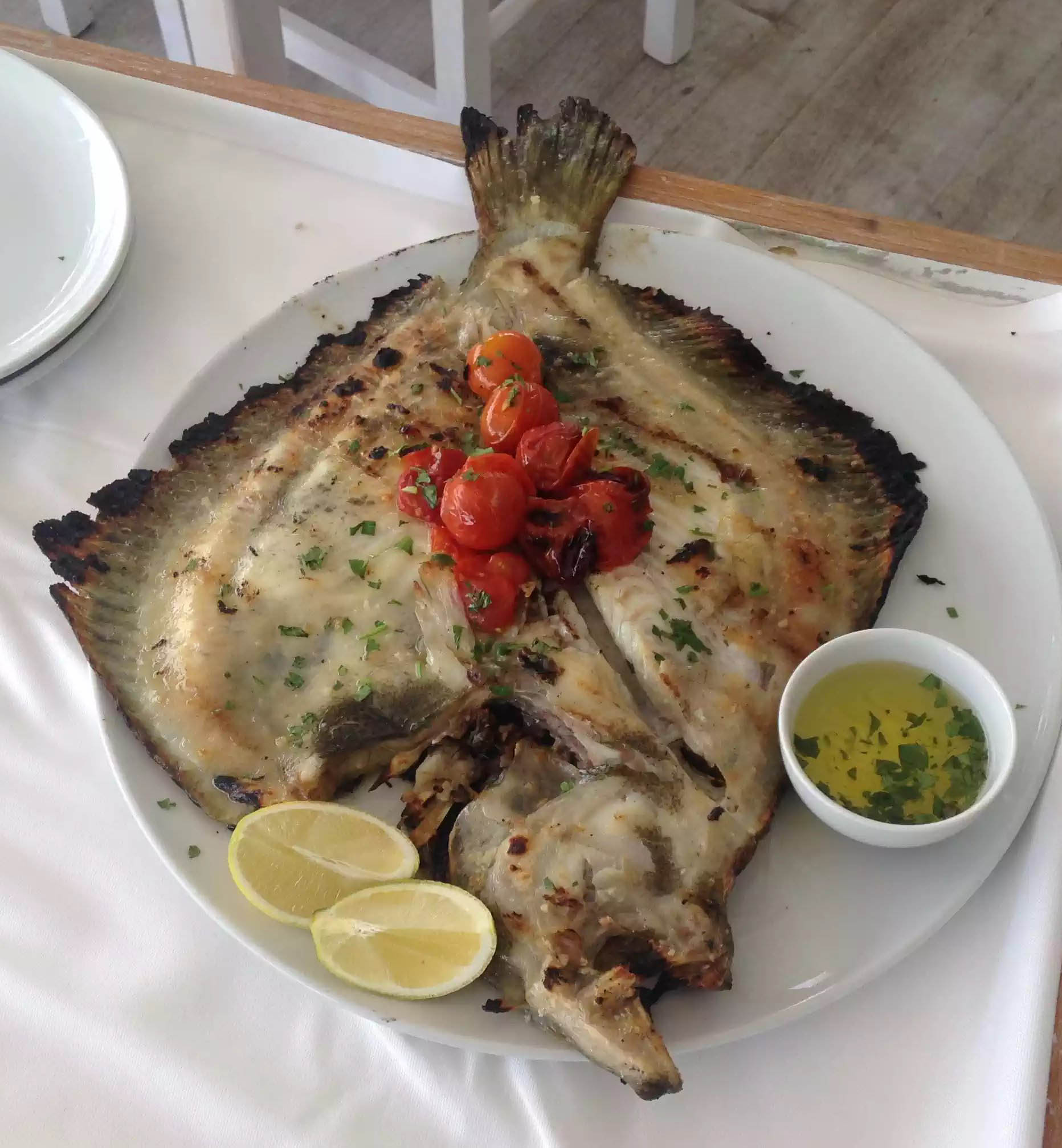 Turbot Grilled Lake Portugal Casa do Lago Lemon Garlic
