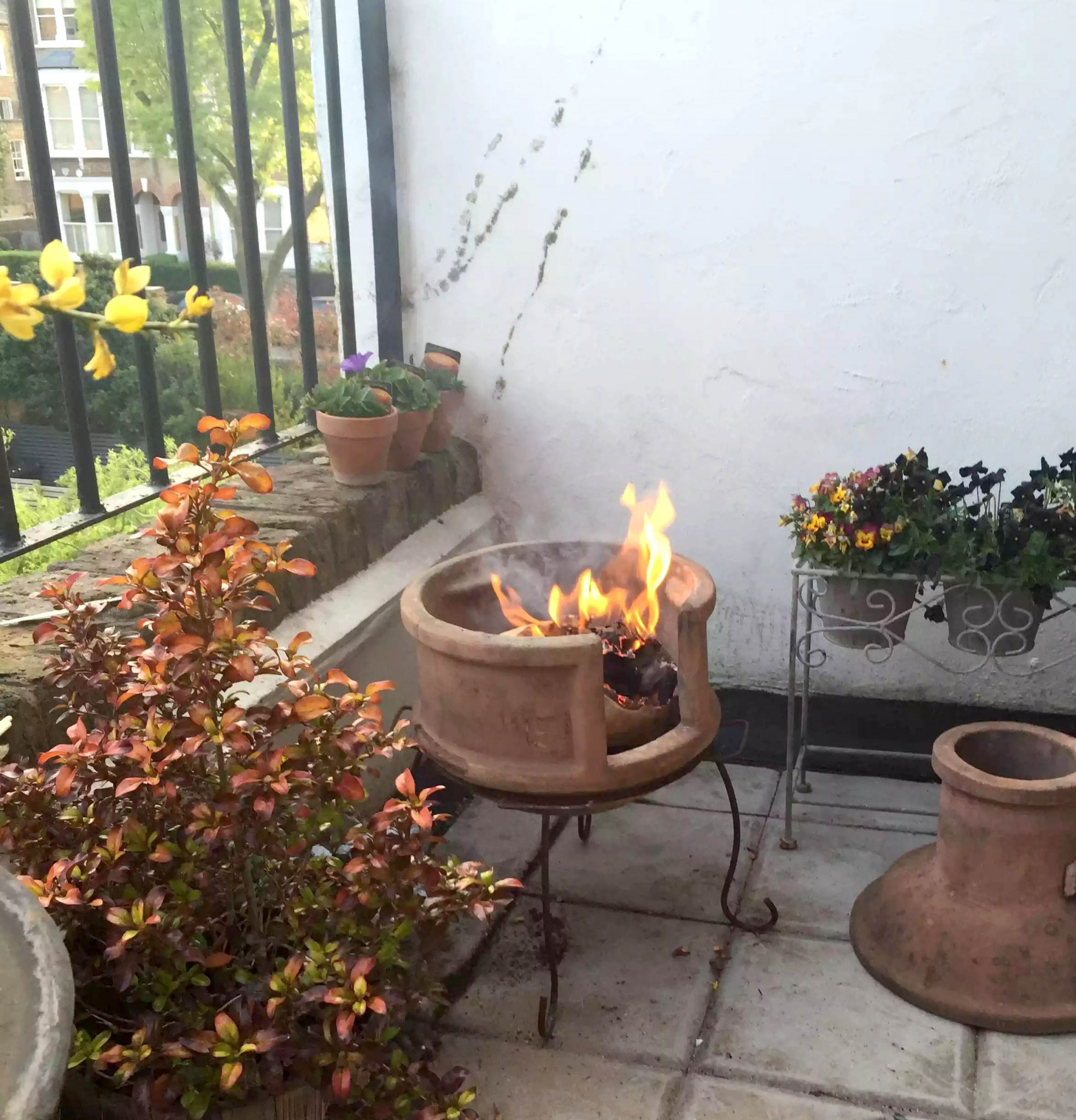 BBQ Tuffnell Park London Balcony Fire Pit