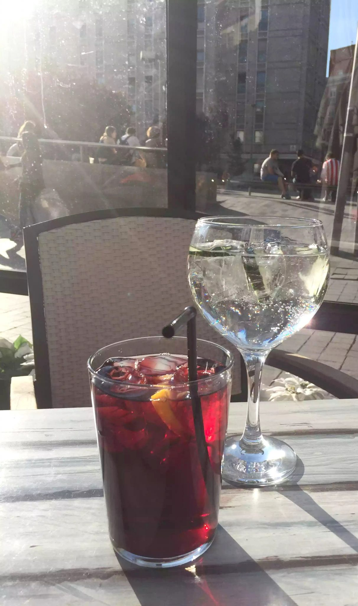 Sangria Sunshine Madrid Gin Drinks Terrace Bar