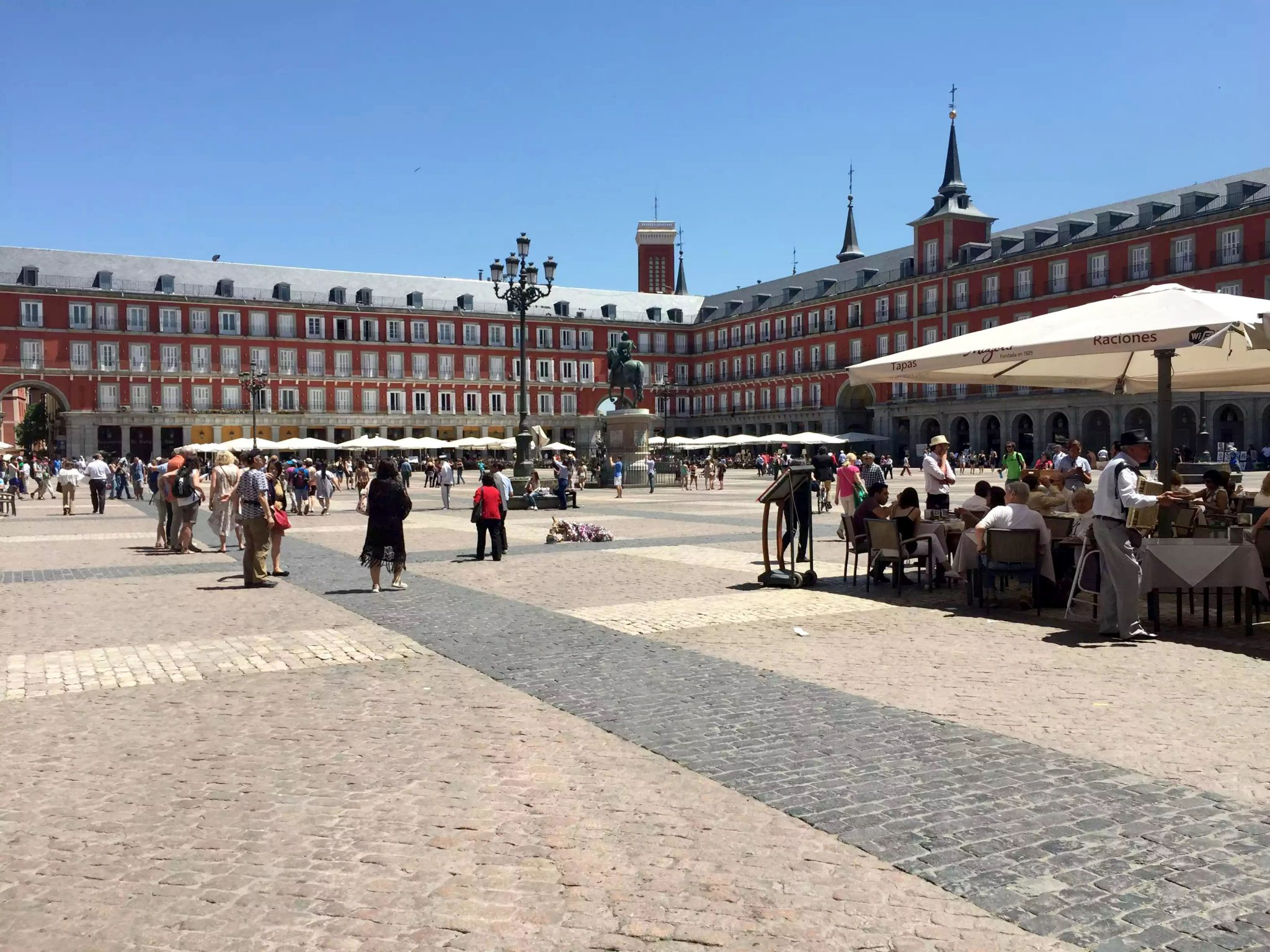 Madrid Sunshine Plaza Mayor Walking Birthday