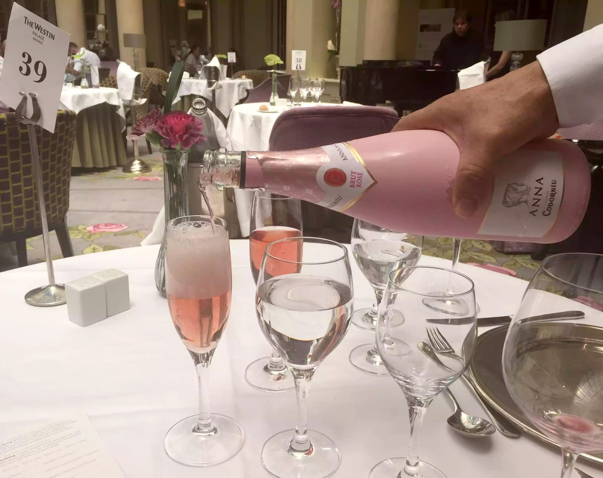 Westin Palace Hotel Opera Brunch Buffet Madrid Sunday Cava Pink