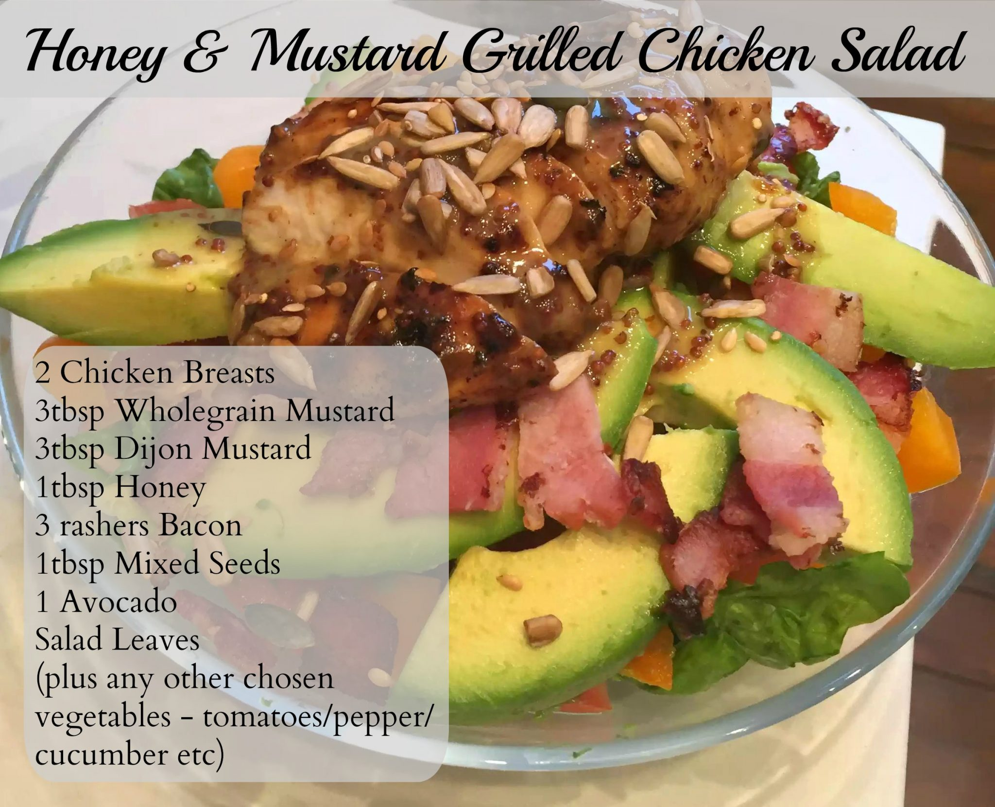 Honey Mustard Chicken Paleo SCD Dinner London Recipe Avocado Bacon Clean Eating