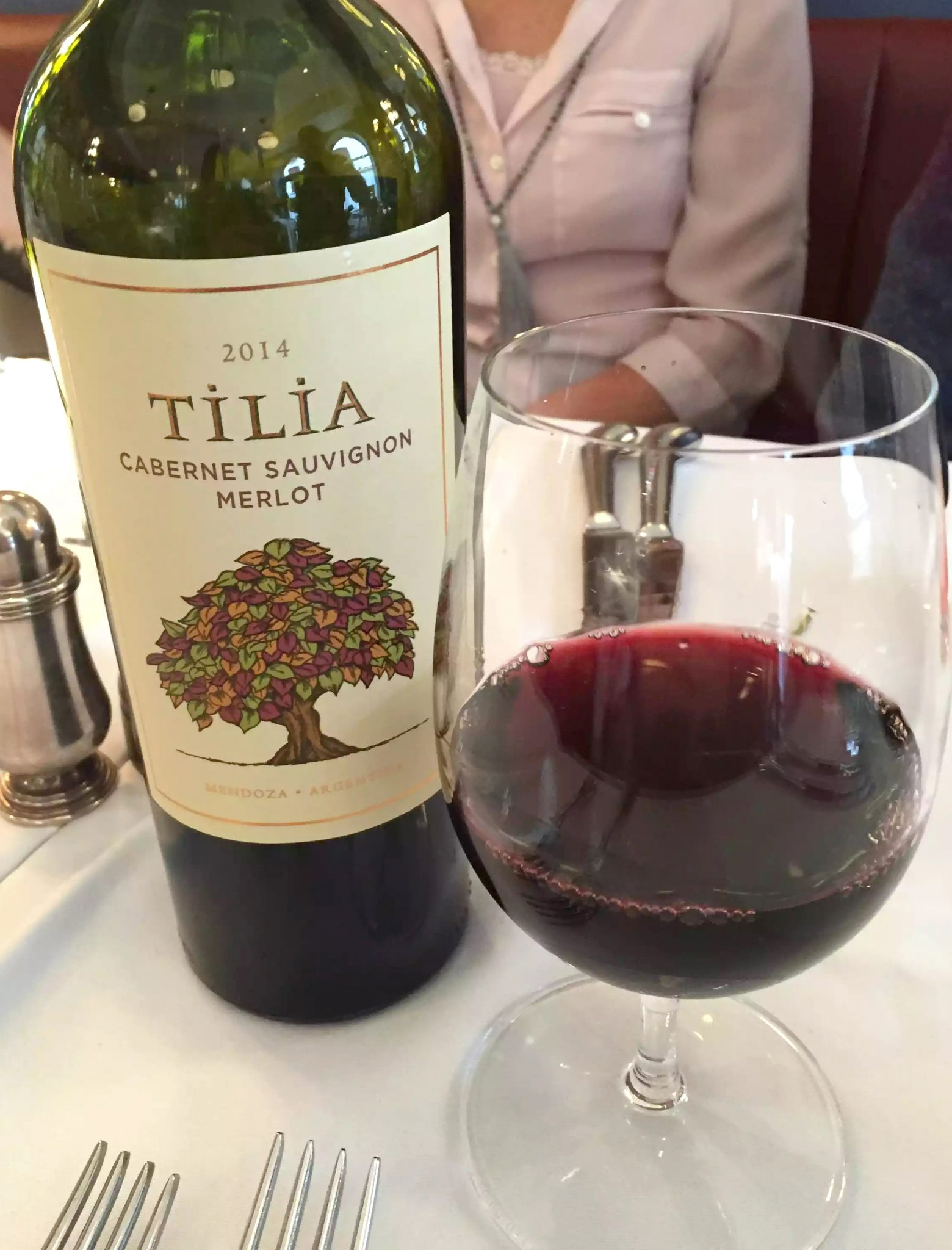 Ivy Cafe Restaurant Review Marylebone London Lunch Red Wine Cabernet Sauvignon Merlot Tilia Argentina