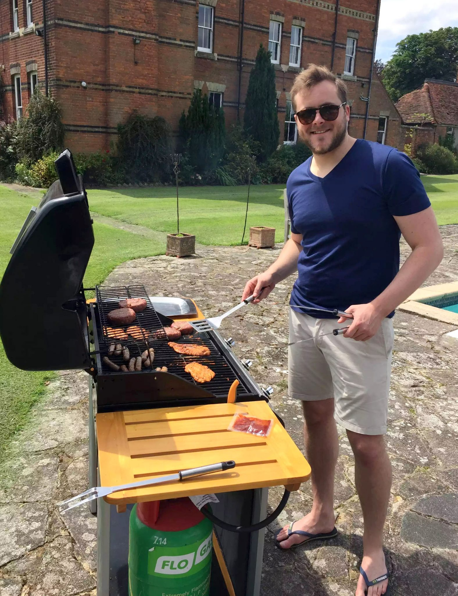 Fathers Day BBQ Marleys Family Sunshine Outdoor Dining Garden Celebration Meat Salads Sam BBQ Burgers Sausages Grilling Gluten Free