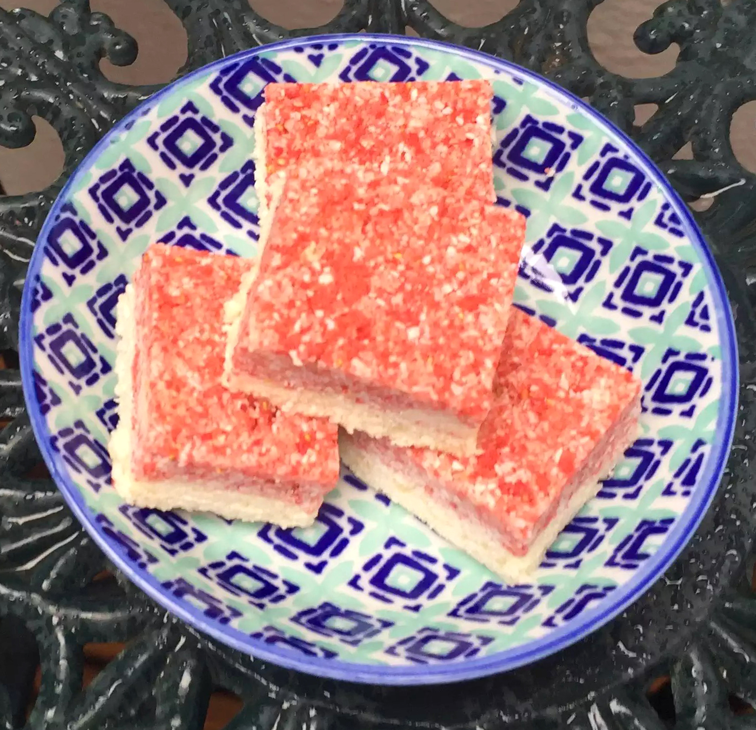 Coconut Ice Sugar-Free Grain-Free Gluten-Free SCD Paleo Strawberry Honey