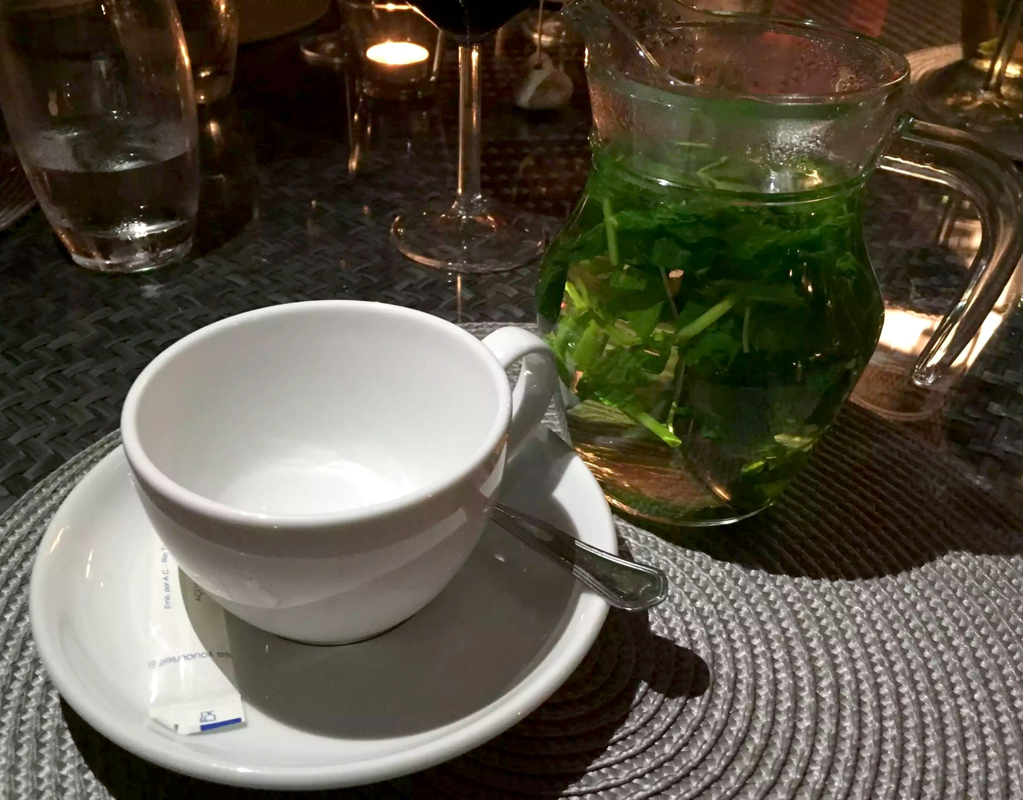 A Quinta Restaurant Almancil Algarve Portugal fresh Mint Tea