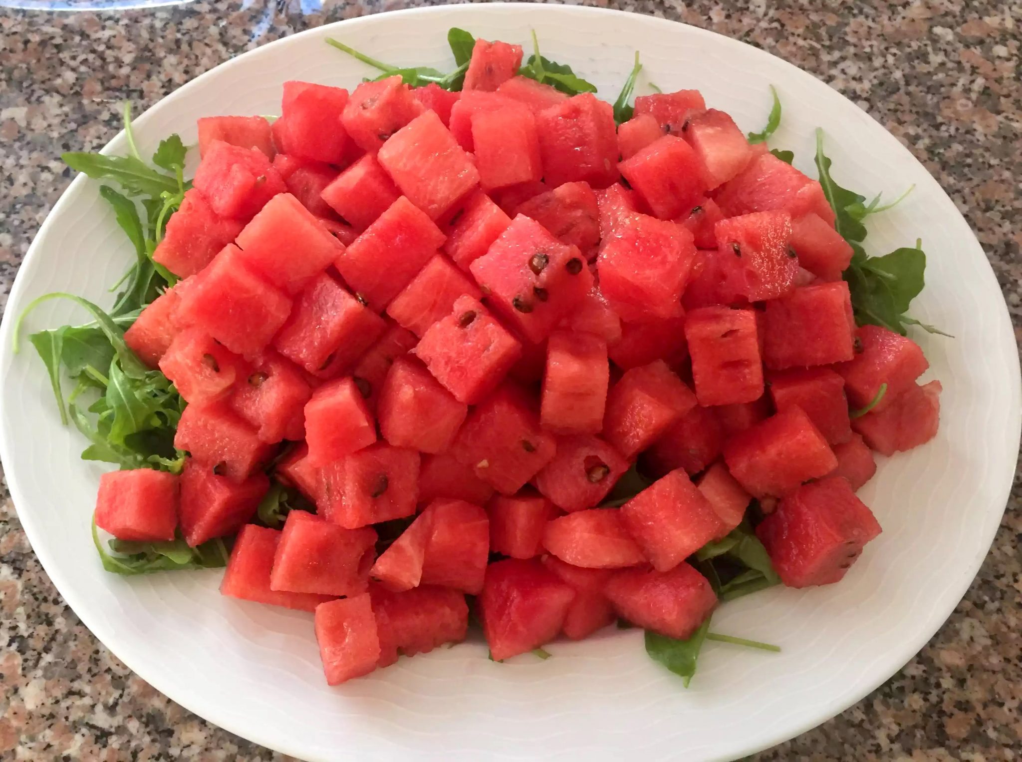 Watermelon Feta Rocket & Mint Salad SCD Paleo Grain-Free Gluten-Free Sugar-Free Clean-Eating