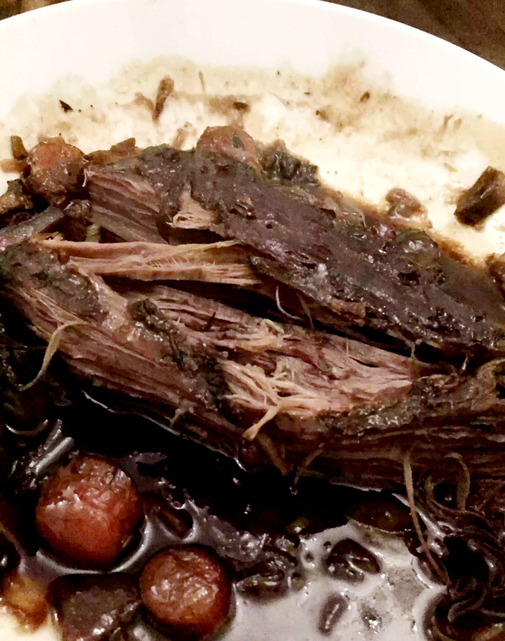 Slow-Cooked Beef Brisket by Emma Eats & Explores - SCD, Paleo, Grainfree, Glutenfree, Sugarfree