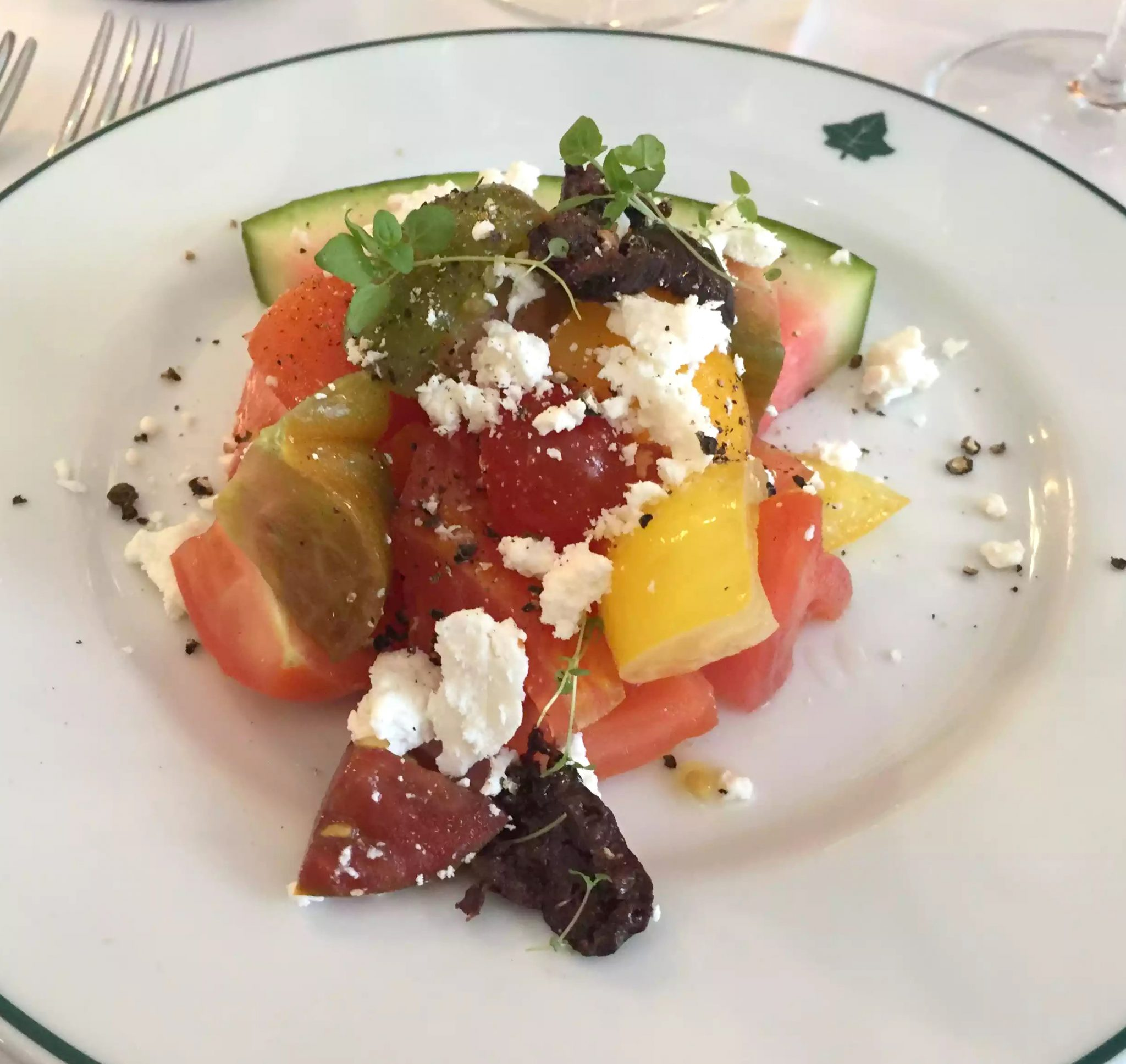 Ivy Cafe Restaurant Review Marylebone London Lunch Watermelon Feta Heritage Tomato