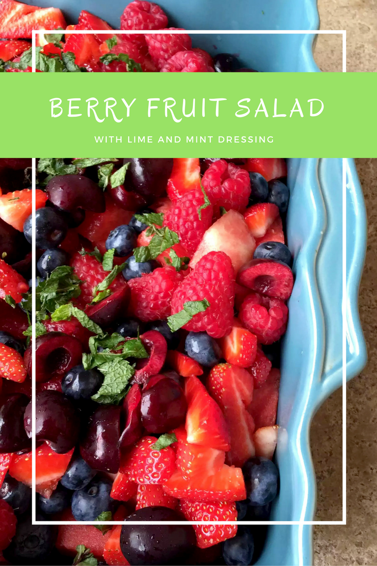 Berry Fruit Salad with a Mint & Lime Dressing by Emma Eats & Explores - SCD, Paleo, Glutenfree, Dairyfree, Grainfree, Sugarfree, Vegan, Vegetarian, Clean Eating