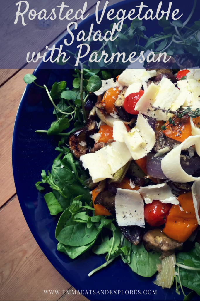 Roasted Vegetable Salad with Parmesan by Emma Eats & Explores - Gluten-Free, Grain-Free, Vegetarian, Sugar-Free, SCD, Paleo
