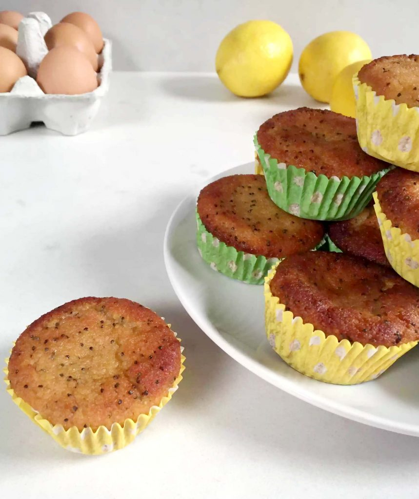 Lemon & Poppy Seed Muffins by Emma Eats & Explores - Grainfree, Glutenfree, Refined Sugarfree, Dairyfree, Paleo, SCD, Vegetarian