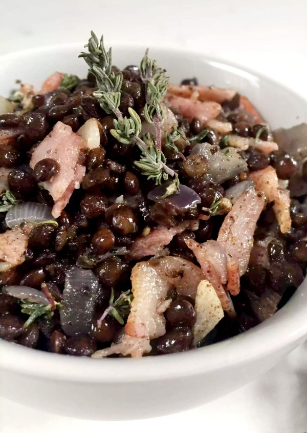 Warm Lentil Bacon Salad by Emma Eats & Explores - Grainfree, Glutenfree, Sugarfree, SCD, Low Carb, LCHF