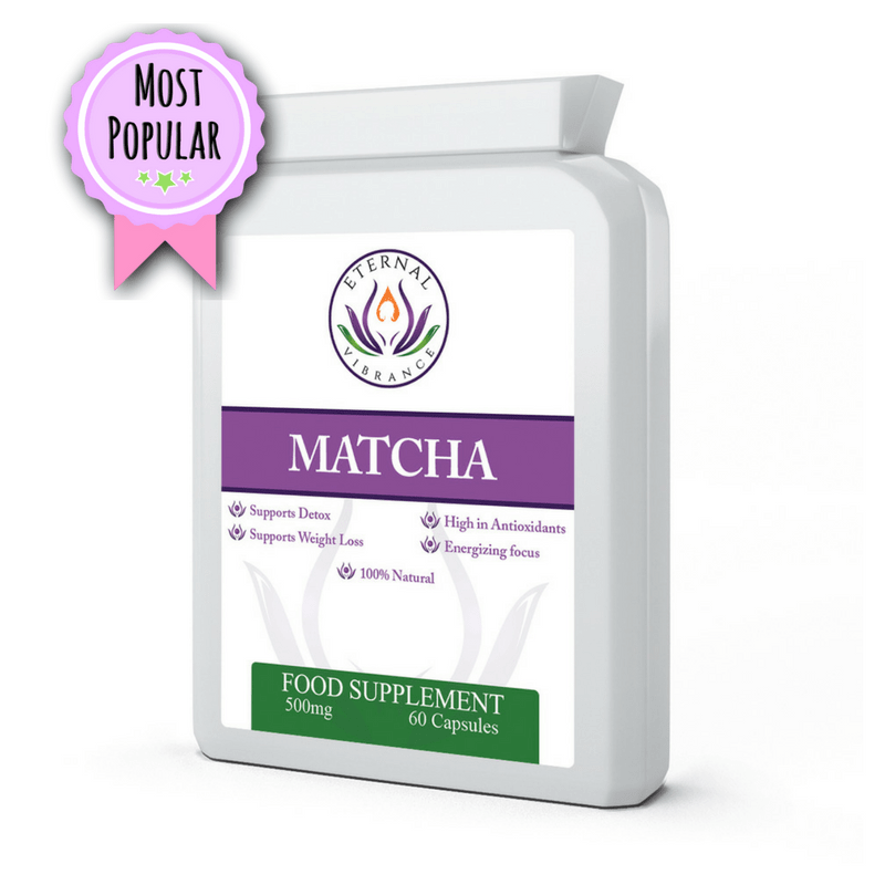 Matcha Green Tea Capsules, Eternal Vibrance by Emma Eats & Explores