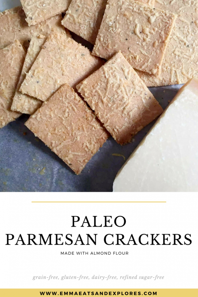 Parmesan Almond Flour Crackers by Emma Eats & Explores - Grainfree, Glutenfree, Dairyfree, Sugarfree, Paleo, SCD, Vegan, Vegetarian, Whole30, Low Carb, LCHF