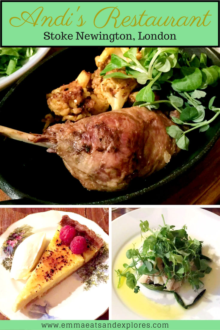 Dinner at Andi's Restaurant - Stoke Newington, London by Emma Eats & Explores