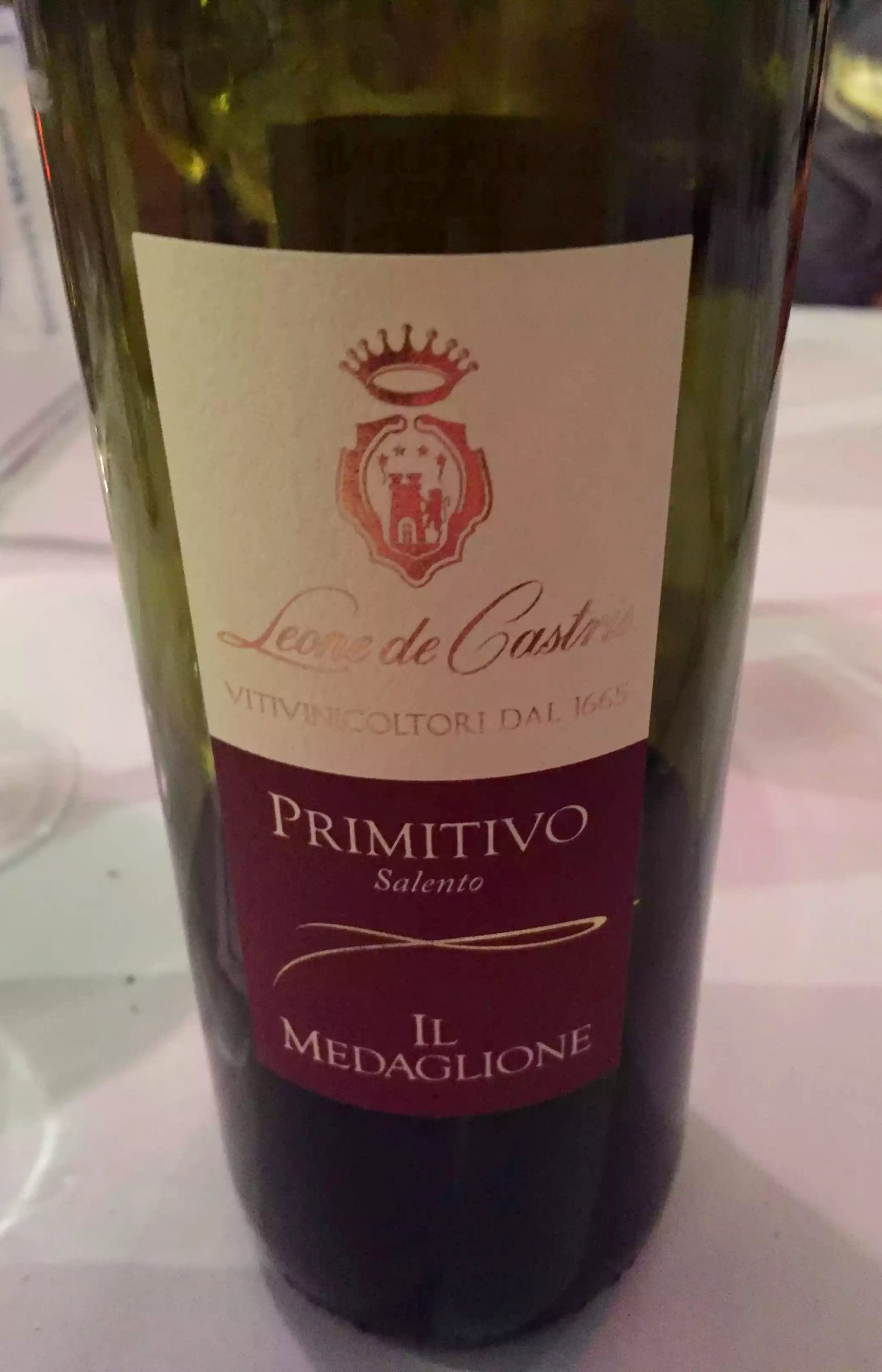 Ciao Bella Bloomsbury London Italian Restaurant Family Birthday Red Wine Primitivo Leone de Castris
