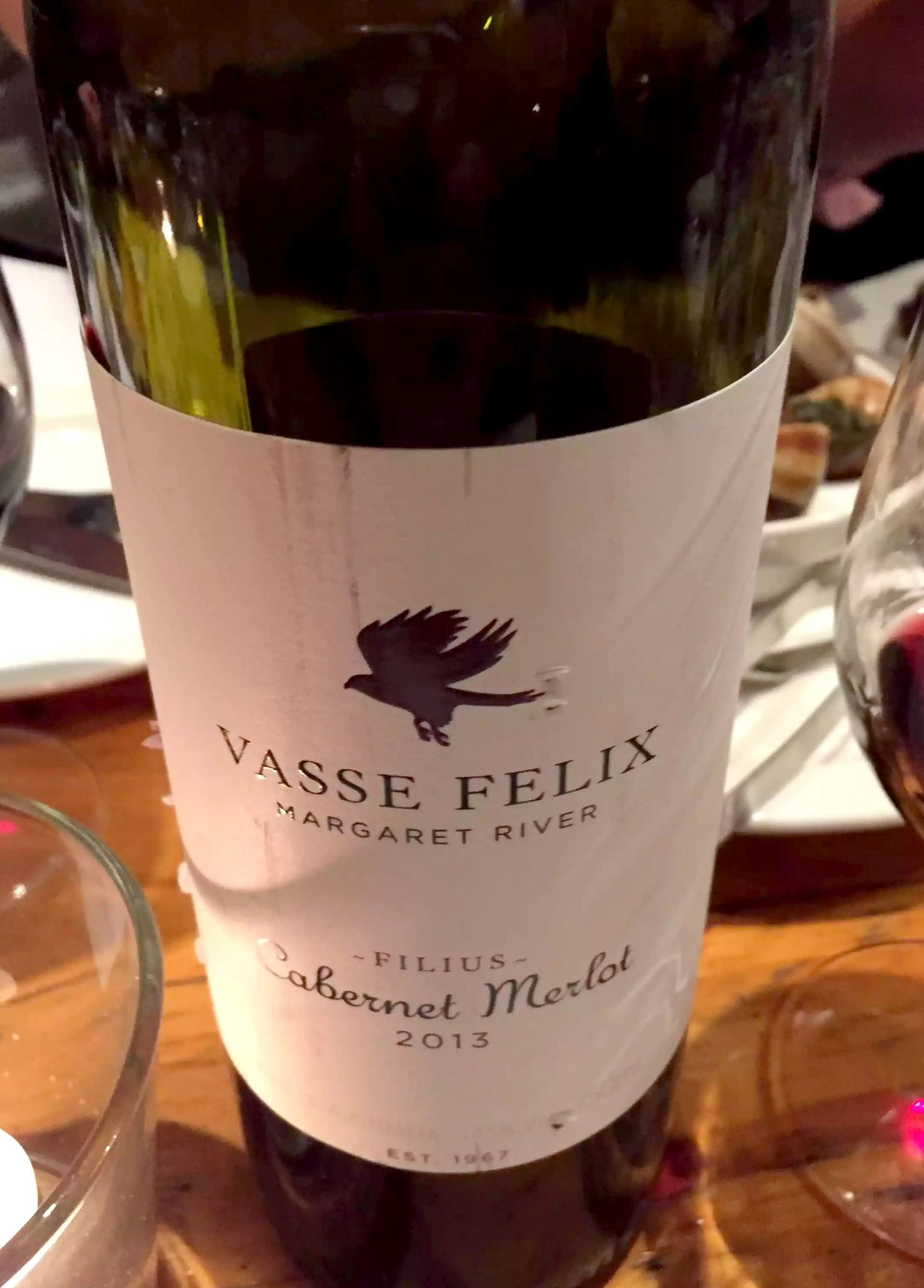 Cork & Bottle Leicester Square London Birthday Dinner Restaurant Wine Vasse Felix Cabernet Merlot