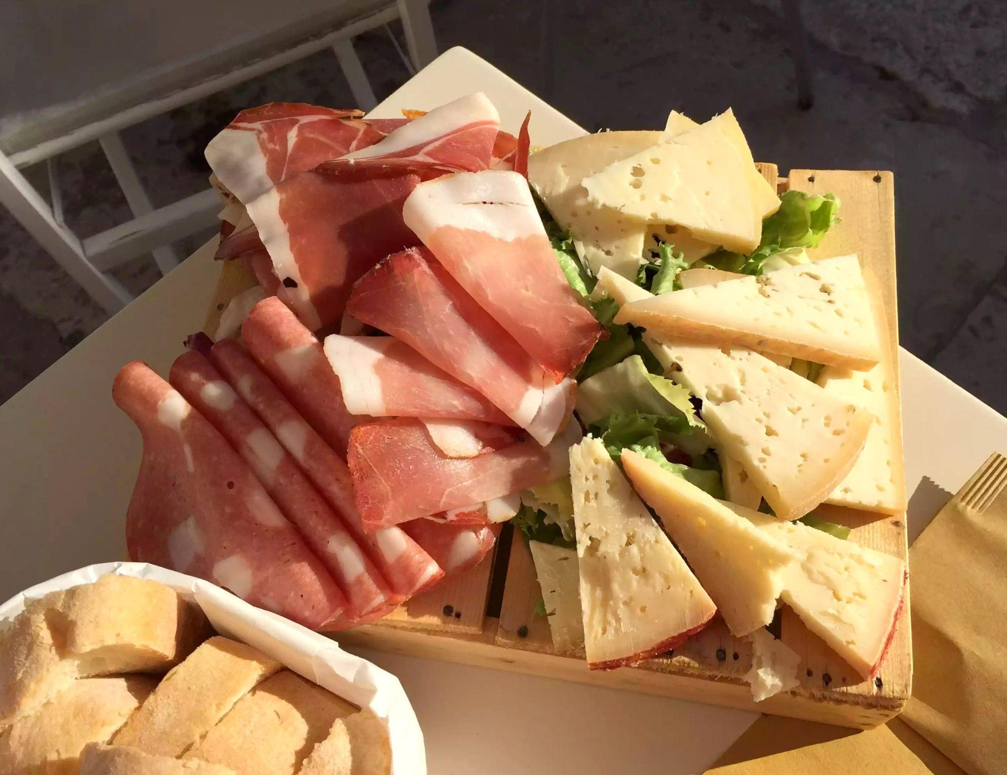 Polignano A Mare Puglia Italy Dinner Dei Serefini Antipasti Cheese Ham Prosciutto