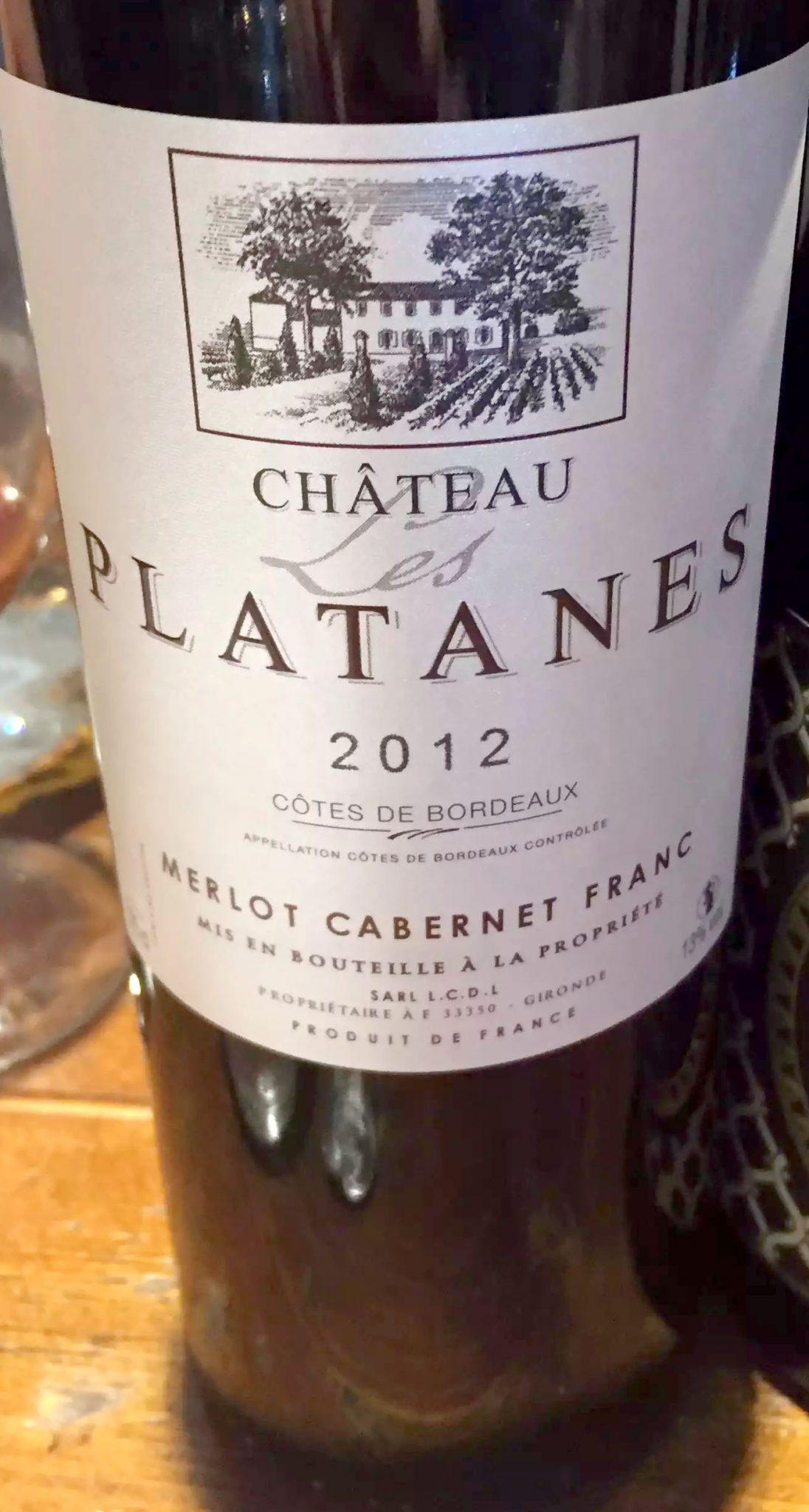 Great Northern Pub St Albans Wine Tasting Dinner Chateau Les Platanes Bordeaux Merlot Cabernet Franc