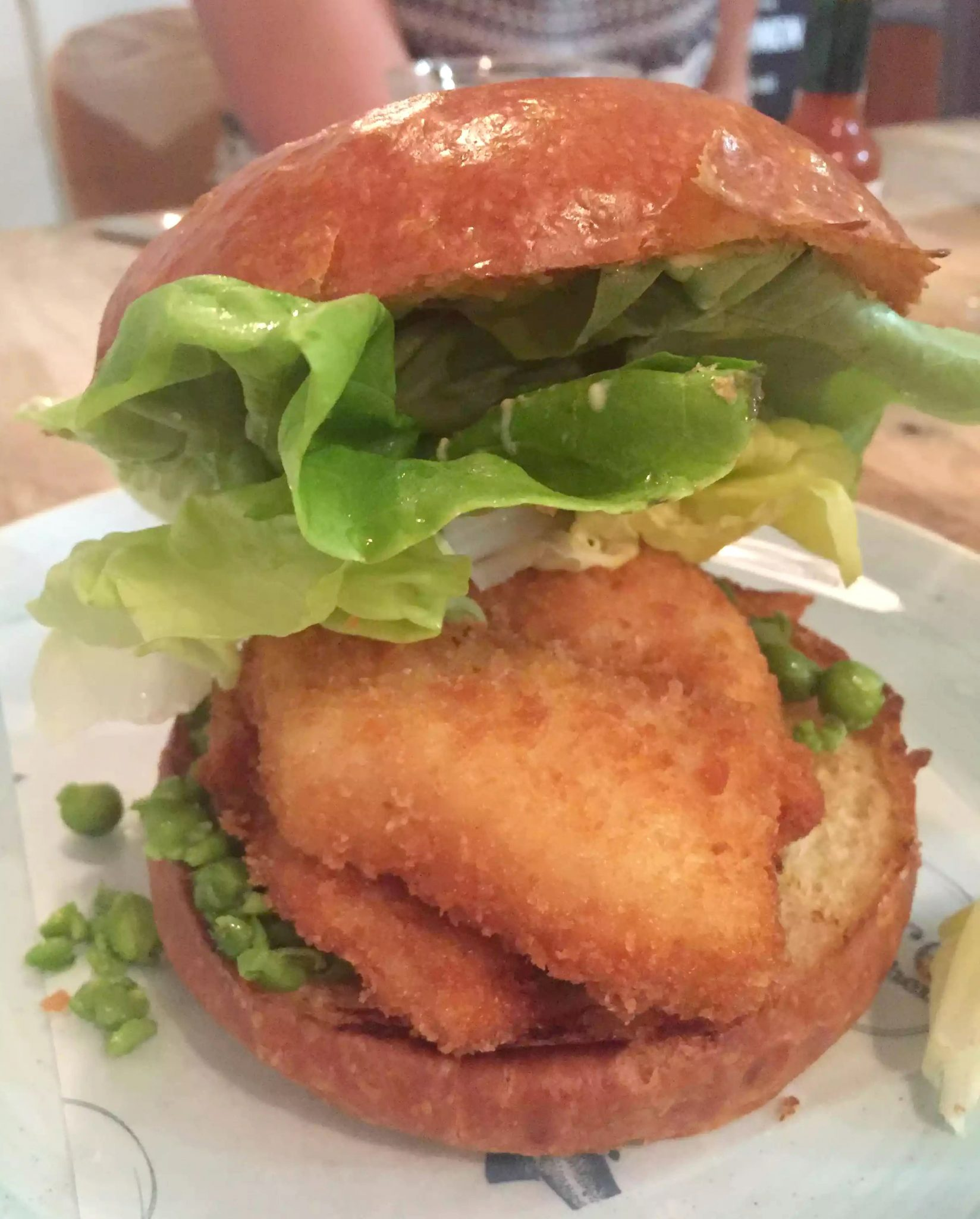Lure Fish Kitchen North London Kentish Town Seafood Restaurant Seadog Breaded Cod Burger