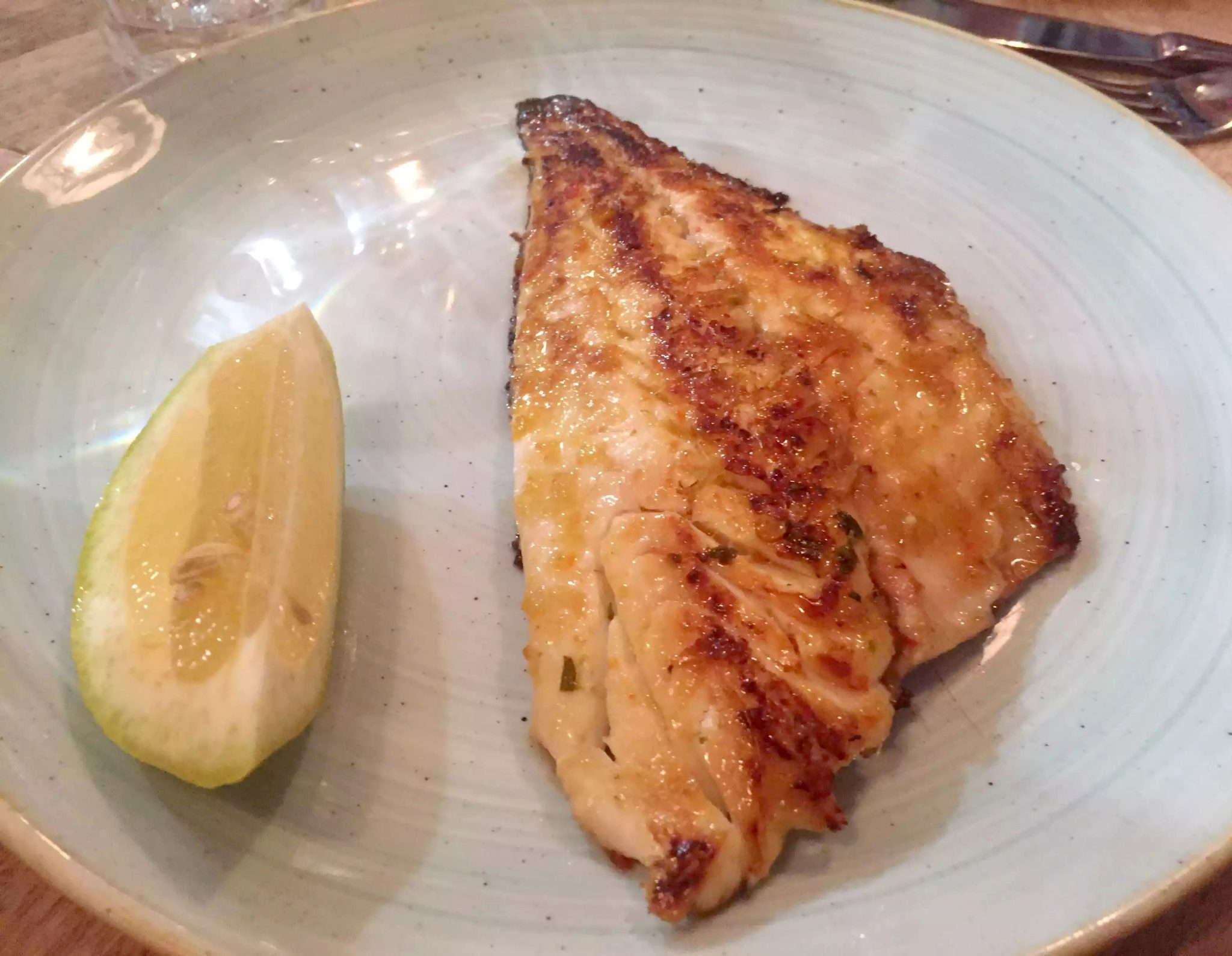 Lure Fish Kitchen North London Kentish Town Seafood Restaurant Gilt Head Bream Lemongrass Chilli