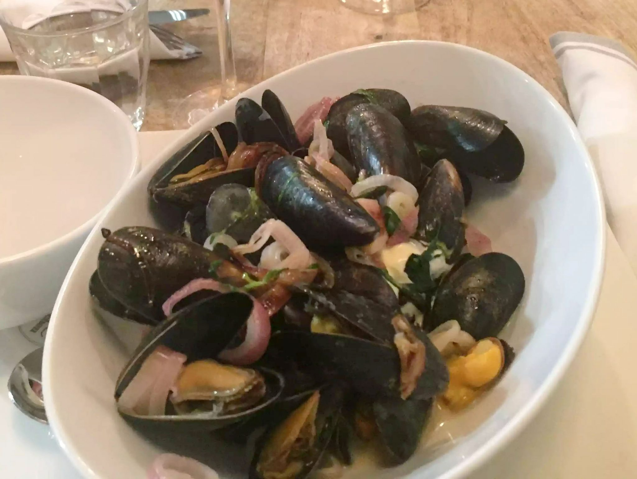 Lure Fish Kitchen North London Kentish Town Seafood Restaurant mussels Tarragon Cream