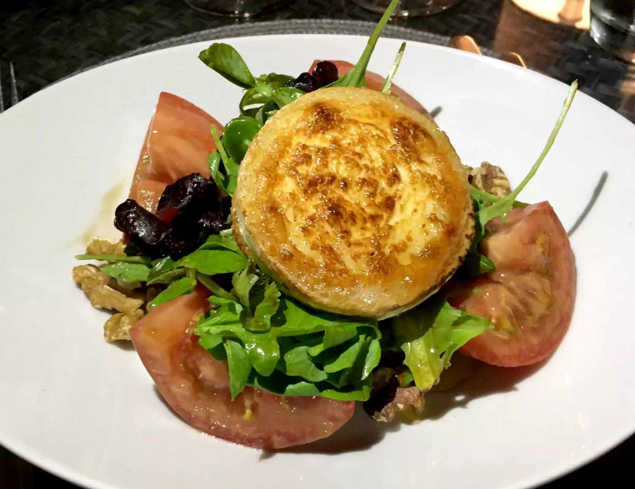 A Quinta Restaurant Almancil Algarve Portugal Goat cheese Salad