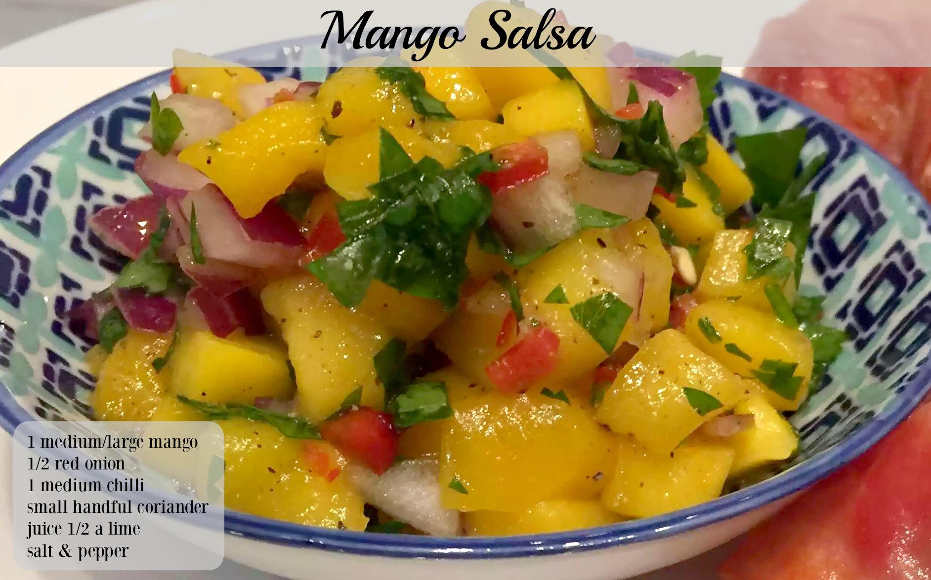 Mango Salsa Paleo SCD Gluten-Free Grain-Free Dairy-Free Sugar-Free Onion Chilli Coriander