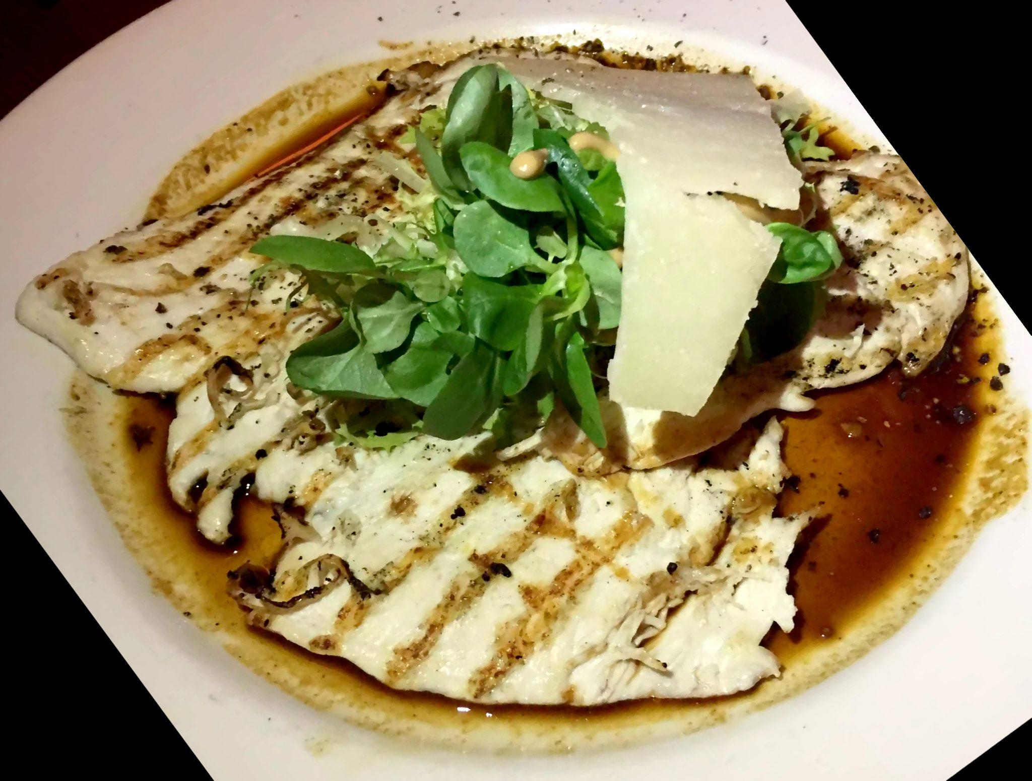 Balthazar Restaurant Covent Garden, London Chicken Paillard Parmesan Salad