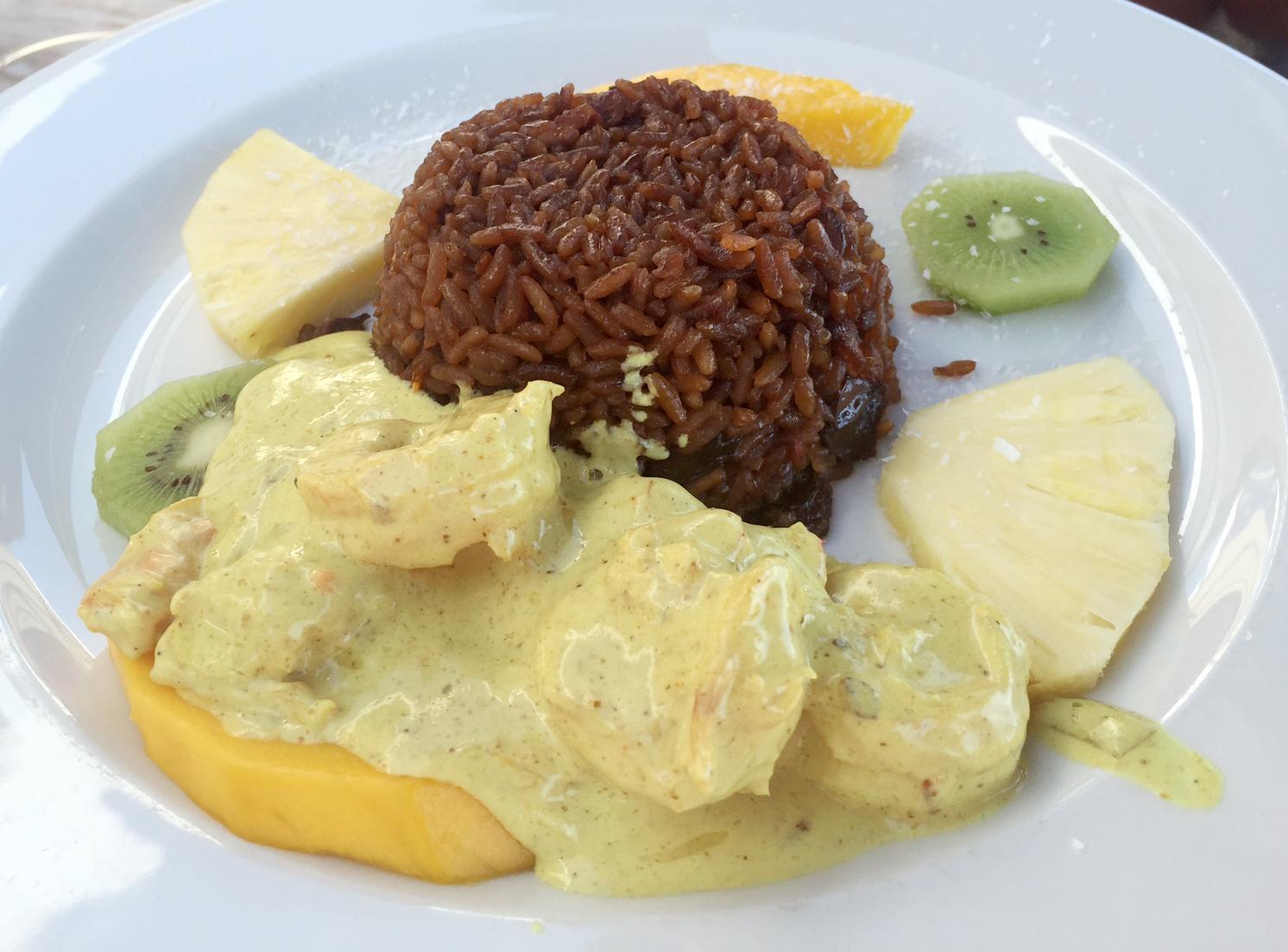 Marias Restaurant - Praia de Garrao - Algarve - Portugal - Portuguese Prawn Curry African Rice