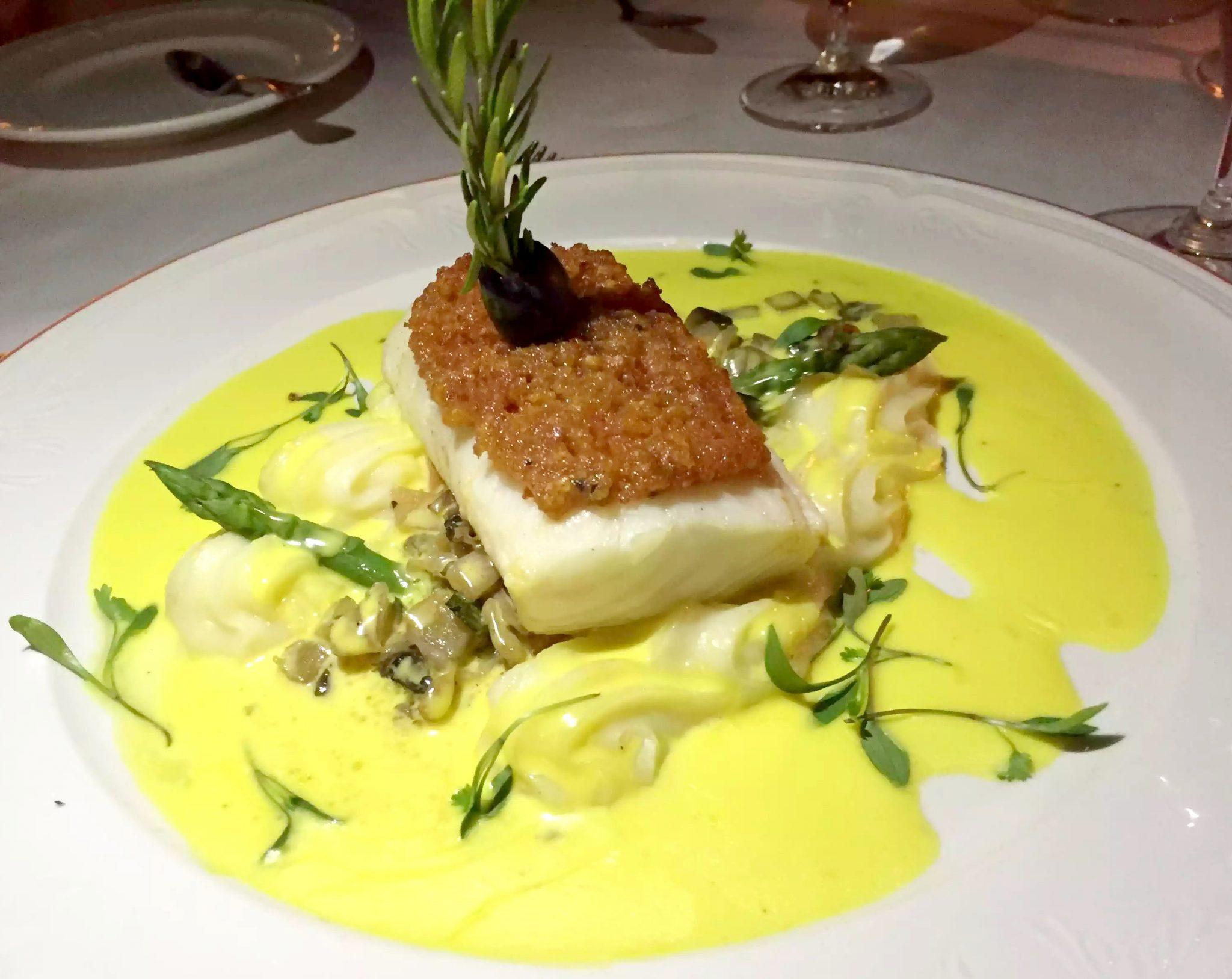 Pequeno Mundo Restaurant - Algarve - Portugal Chorizo Crusted Turbot