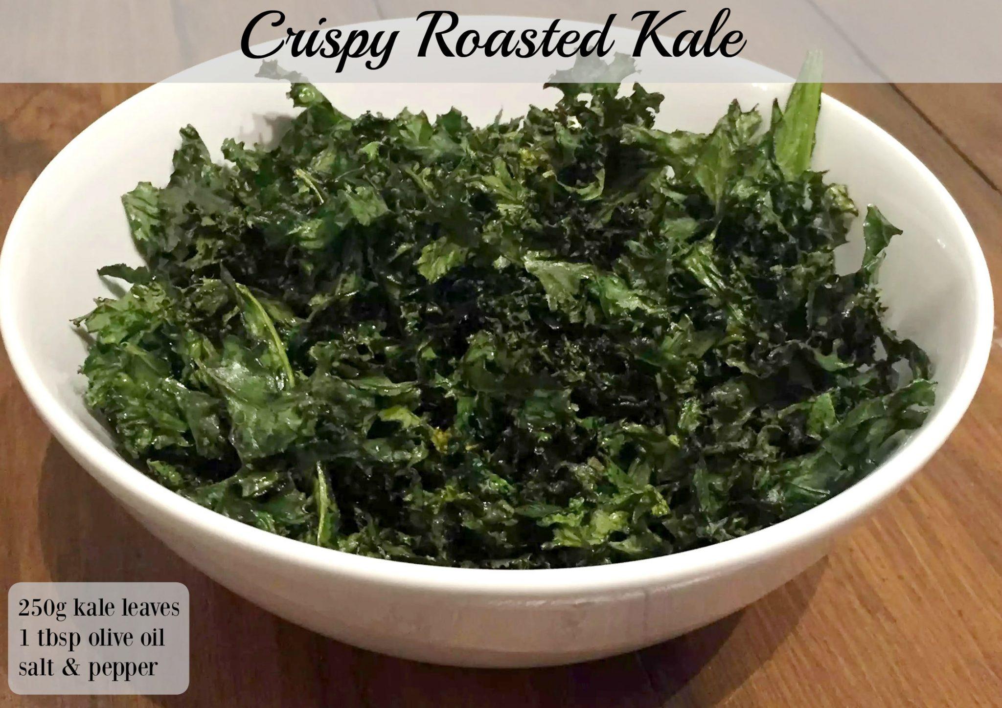 Crispy Roasted Kale by Emma Eats & Explores - SCD, Paleo, Vegan, Vegetarian, Glutenfree, Grainfree, Sugarfree, Dairyfree