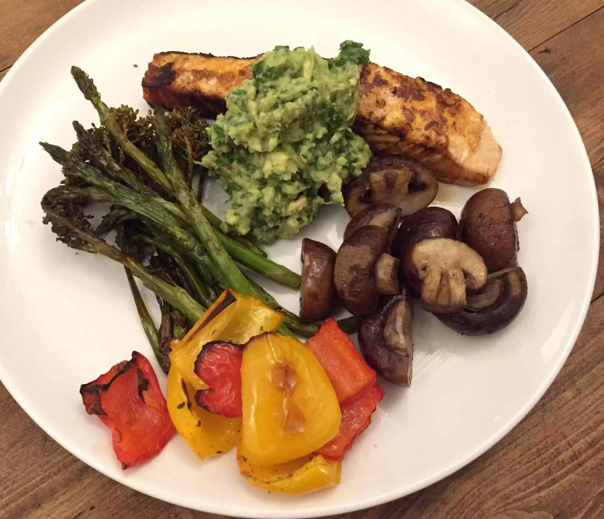 Pan-Fried Harissa Salmon Fillets with Avocado Salsa - Emma Eats & Explores