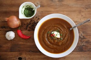 Roasted Butternut Squash Soup with Chilli & Cumin by Emma Eats & Explores - Glutenfree, Grainfree, Dairyfree, Sugarfree, Paleo, SCD, Whole30, Vegan, Vegetarian & Low Carb