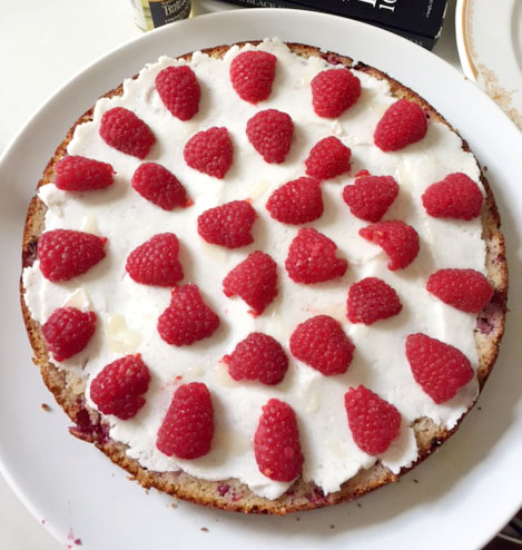 Raspberry Almond Cake with Coconut Cream Filling by Emma Eats & Explores - Grainfree, Glutenfree, Dairyfree, Refined Sugarfree, Paleo, SCD, Vegetarian