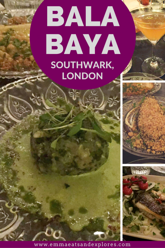 Bala Baya Restaurant, Southwark, London by Emma Eats & Explores
