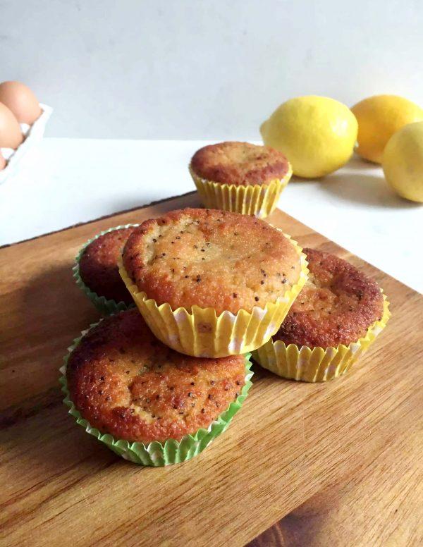 Lemon & Poppy Seed Muffins by Emma Eats & Explores - Grainfree, Glutenfree, Refined Sugarfree, Dairyfree, Paleo, SCD, Vegetarian