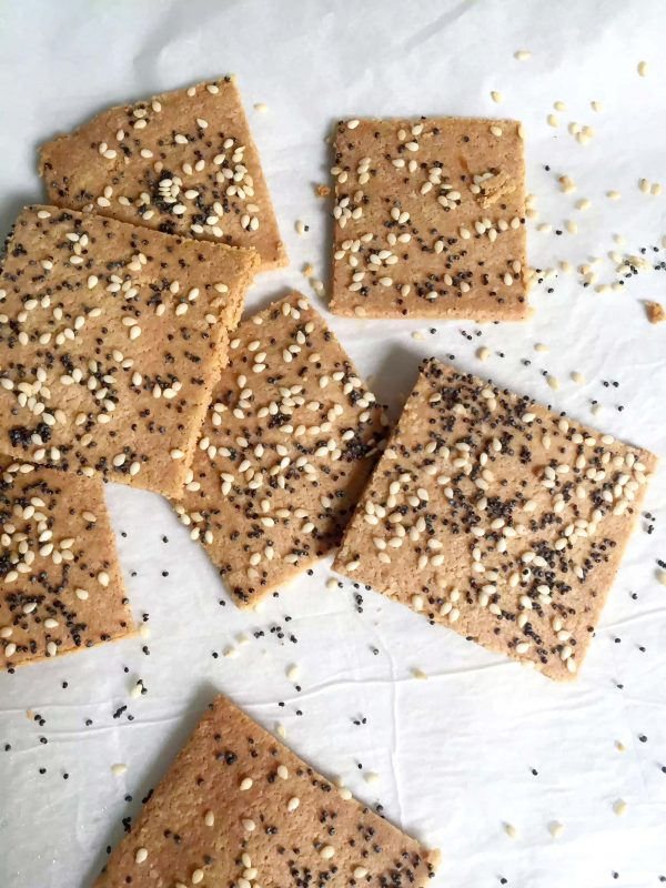 Almond Flour Crackers - 3 ways by Emma Eats & Explores - Grainfree, Glutenfree, Dairyfree, Sugarfree, Paleo, SCD, Vegan, Vegetarian, Whole30, Low Carb, LCHF