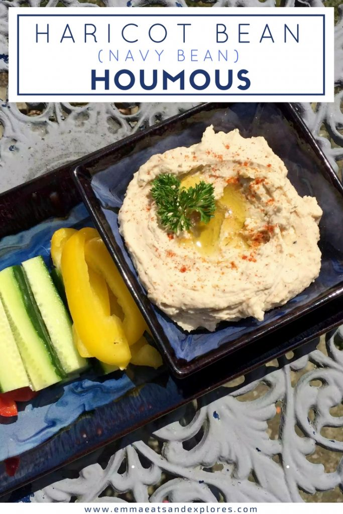 Haricot Bean Houmous - Navy Bean Hummus by Emma Eats & Explores
