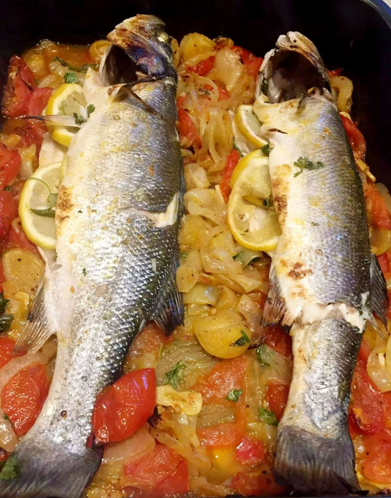 Algarvian Style Sea-Bass Baked in the Oven by Emma Eats & Explores