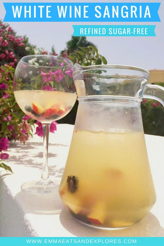 White Wine Sangria (Refined Sugar-Free) by Emma Eats & Explores