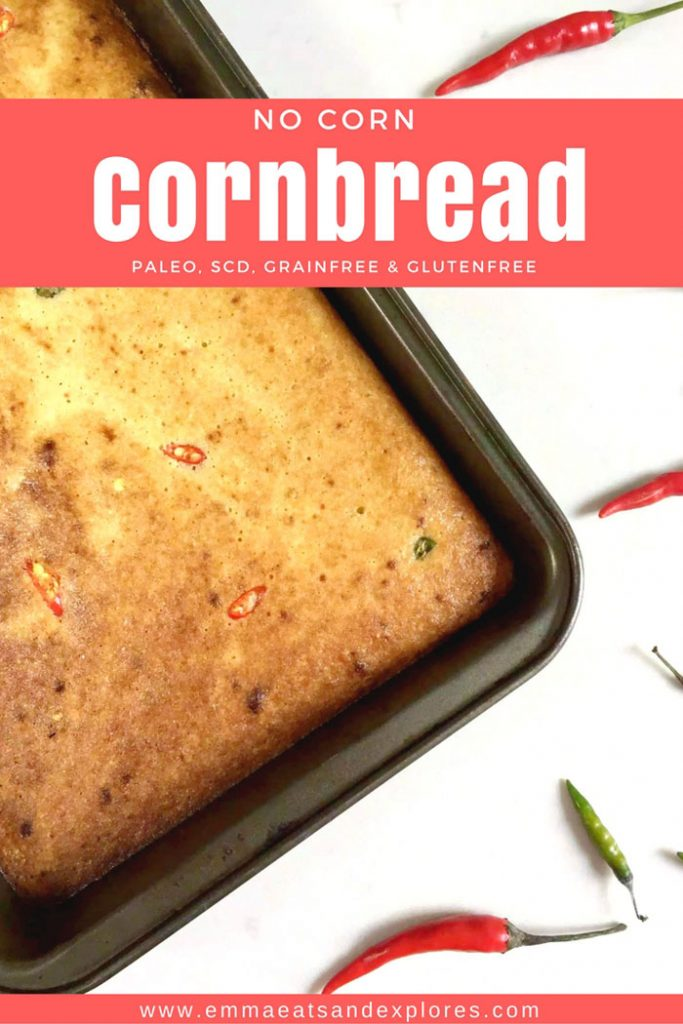 Grain Free, No Corn, Paleo Cornbread by Emma Eats & Explores - Glutenfree, SCD, Low Carb & Vegetarian