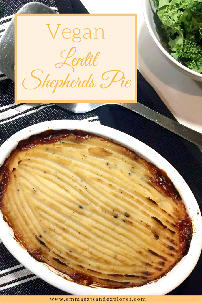 Vegan Lentil Shepherds Pie by Emma Eats & Explores - Grainfree, Glutenfree, Dairyfree, Refined Sugarfree, SCD, Vegetarian & Vegan