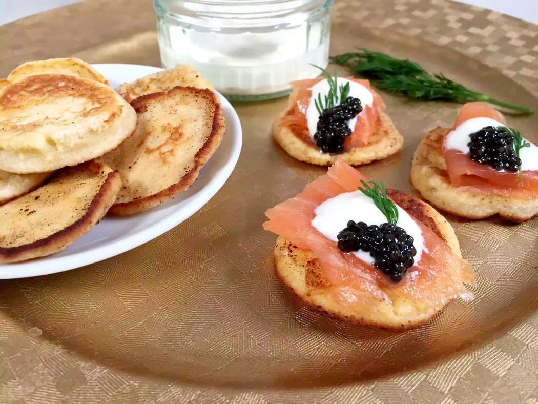 Grain-Free Blinis - SCD, Grainfree, Glutenfree, Refined Sugarfree, Paleo, Low Carb & Vegetarian by Emma Eats & Explores