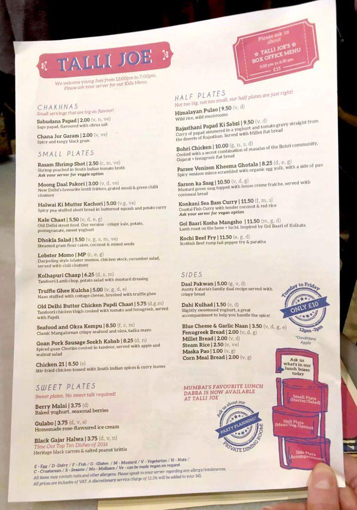 Talli Joe by Emma Eats & Explores - Indian Small Plates Restaurant, Shaftesbury Ave, London UK