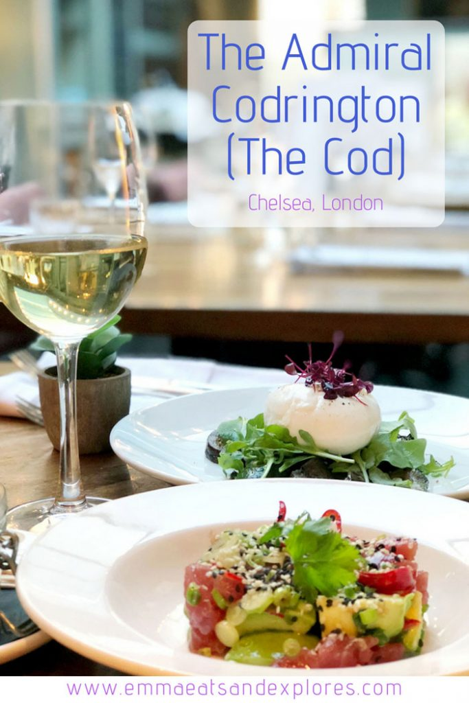 Dinner at The Admiral Codrington by Emma Eats & Explores