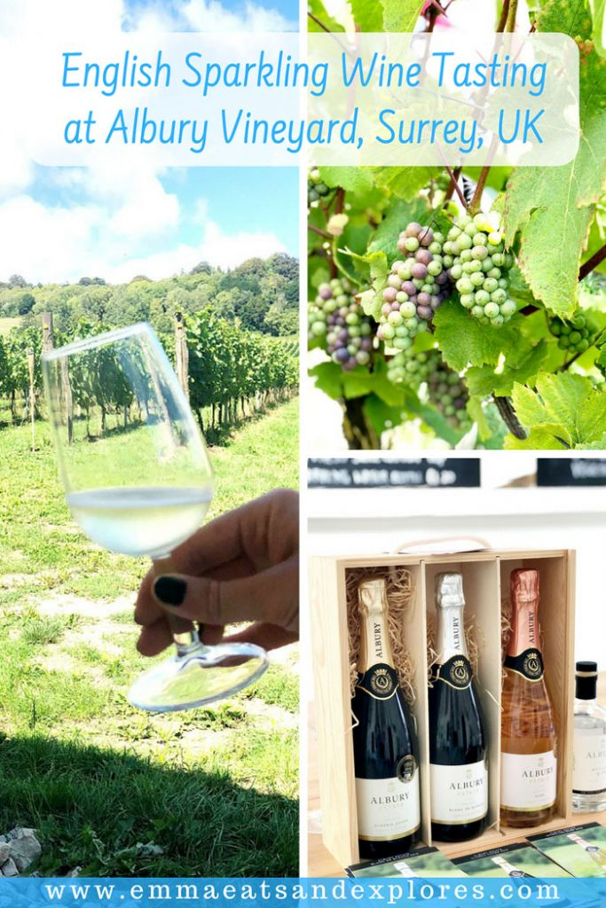 English Sparkling Wine Tasting at Albury Vineyard by Emma Eats & Explores