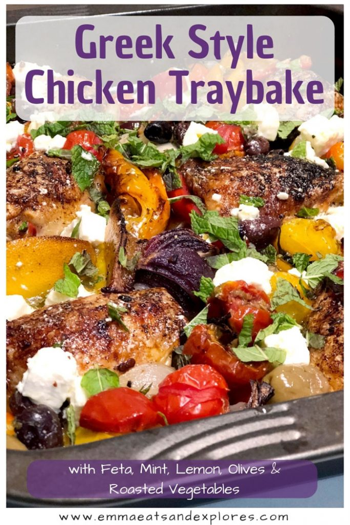 Greek Style Chicken Traybake by Emma Eats & Explores - Grainfree, Glutenfree, Refined Sugarfree, SCD, Paleo & Low Carb