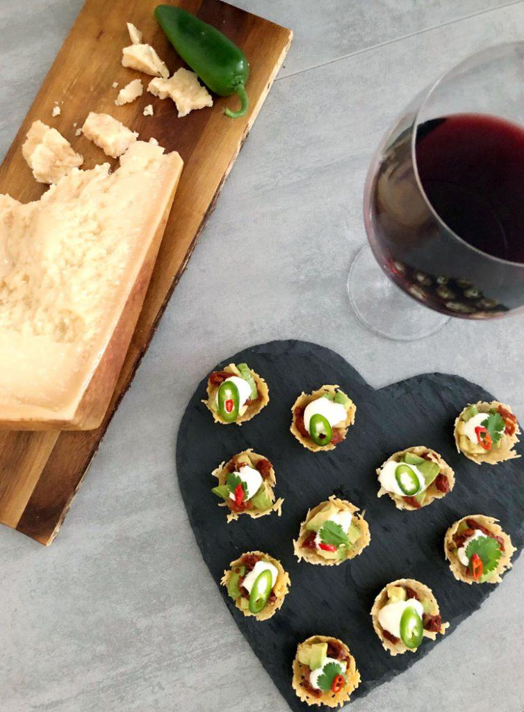 Parmigiano Reggiano Nacho Cups by Emma Eats & Explores - Grainfree, Glutenfree, Sugarfree, Paleo, SCD, Low Carb & Vegetarian